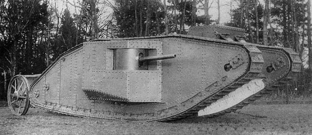 Materials used to build the first tanks.2