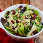 Lettuce salad with nuts